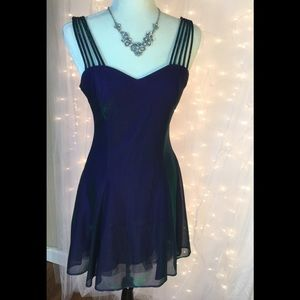 Two colored formal/party dress